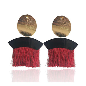 Bohemia charming long tassel handmade earrings fashion Party