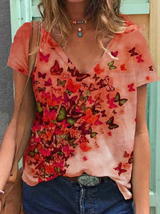 Multicolor Floral Casual Shirts Blouse