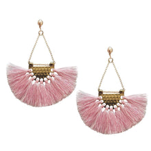 Load image into Gallery viewer, Bohemia charming fan pattern handmade earrings fashion Party