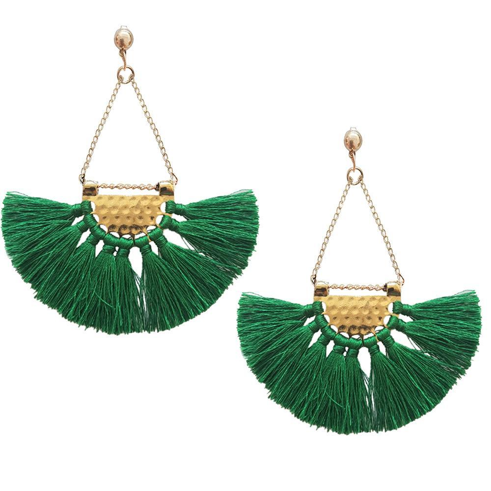 Bohemia charming fan pattern handmade earrings fashion Party