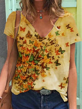 Load image into Gallery viewer, Multicolor Floral Casual Shirts Blouse