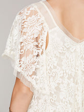 Load image into Gallery viewer, White Hollow lace dress transparent yarn dress