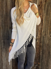 Load image into Gallery viewer, Classic Tassel Slash Sweater Top
