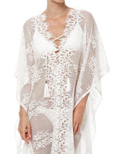 Load image into Gallery viewer, Lace White Split Front Long Bohemia Beach Dress