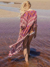 Load image into Gallery viewer, Bohemia Floral-printed Long Sleeves Beach Cover-Ups