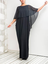 Load image into Gallery viewer, Simple Fashion Summer Round Neck with Shawl Maxi Dress Party Dress
