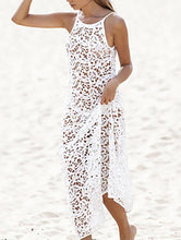 Load image into Gallery viewer, Pretty Hollow Crochet Backless Cover-Up Top