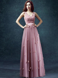 Lace Split-joint Sleevelss Evening Dress