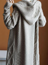 Load image into Gallery viewer, Long Hooded Cardigans Open Front Knitted Sweaters Outwear