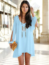 Load image into Gallery viewer, women V-neck chiffon loose dress fashion women s dress