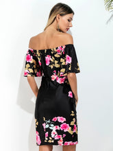 Load image into Gallery viewer, tropical Floral Women s Fashion Personality strapless Dress