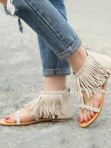 2018 Summer Suede Tassels Shoes