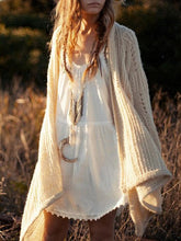 Load image into Gallery viewer, Knitting Hollow Long Sleeves Cardigan Tops