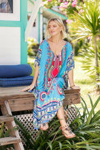 Load image into Gallery viewer, Fashion Floral Loose Beach Kaftan Dress