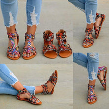 Load image into Gallery viewer, Bohemian Female Colorful Lace Sandals