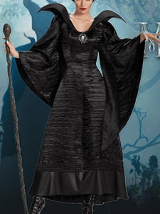 Sleeping Curse Dark Witch Devil Queen Costume Halloween Dress