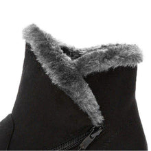 Load image into Gallery viewer, Winter Zipper Wedge Heel Keep Warm Ankle Snow Boots For Women