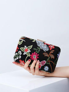 Embroidered evening bag ethnic style banquet bag