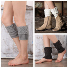 Load image into Gallery viewer, Boot cuff thick short-sleeved thick thick bamboo knit wool yarn socks - 8