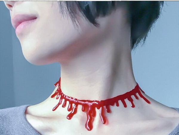 Halloween Decoration Horror Blood Drip Vampire Necklace