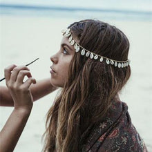 Load image into Gallery viewer, Bohemian Shell Chain Hair Accessories Headwear
