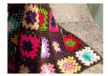 Load image into Gallery viewer, Grandmother's Block Checkered Handmade Crochet Blanket