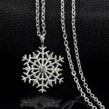 Load image into Gallery viewer, Charms Crystal Snowflake Zircon Christmas Sweater Necklace