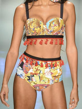 Load image into Gallery viewer, Sexy Print Tassel Swimwear Bikini Sets
