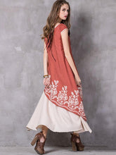 Load image into Gallery viewer, Asymmetric Embroidered Maxi Dress