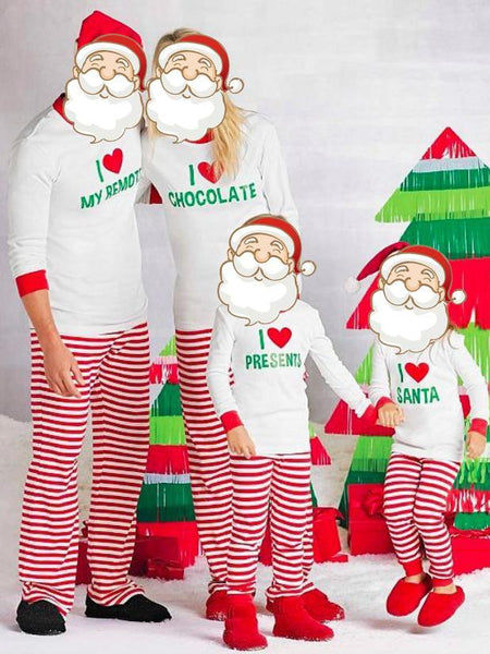 Family Christmas pajams printing set Xmas family suit -3
