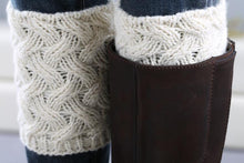 Load image into Gallery viewer, Christmas boot cuff thick short-sleeved thick thick bamboo knit wool yarn socks - 1