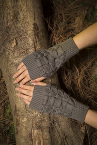 Half refers to the warm knit typing women s thick wool Half palm gloves - 3