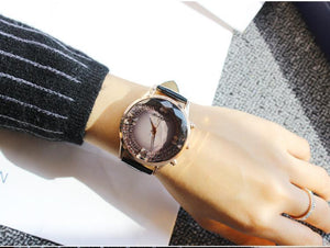 Fashion Women PU Band Butterfly Watch