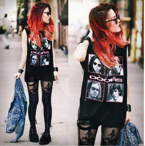 Pants lace stitching feet pants leggings punk female lace feet pants