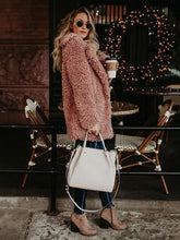 Load image into Gallery viewer, Autumn Winter Solid Color Long Sleeve Outwear Coat