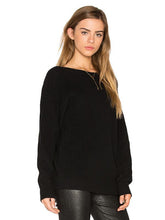 Load image into Gallery viewer, Knitting Backless Round-neck Long Sleeves Sweater Tops