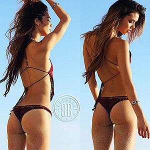 2018 Sexy Knit Hollow Swimwear Bikini Sets