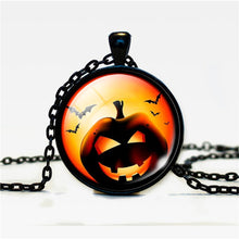 Load image into Gallery viewer, Halloween Pumpkin Necklace Accessories