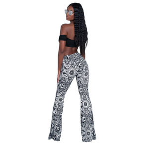 Fashion Pattern Printed Women's Bootcut Pants