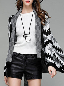 Casual Loose Turn-Down Collar Women Cardigans