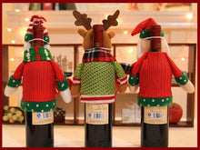 Load image into Gallery viewer, Christmas figurines champagne bottle set