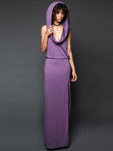 Load image into Gallery viewer, Sleeveless Backless With Hat Maxi Dress