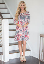 Load image into Gallery viewer, Fashion print collar Casual Boho Vacation  Dresses
