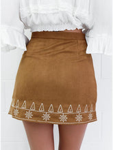 Load image into Gallery viewer, Boho Autumn High Waist Solid Color A-line Skirt