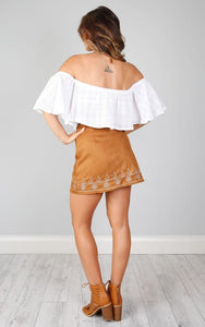 Boho Autumn High Waist Solid Color A-line Skirt
