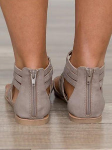 2018 Crossover Strap Low-heel Shoes For Women
