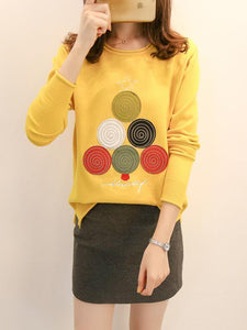 2017 Xmas Tree Casual sweatshirt women long sleeve T-shirt