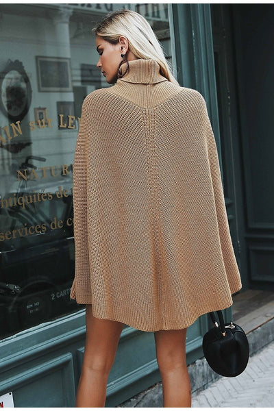Knitted turtleneck Women Camel casual pullover Autumn Sweater