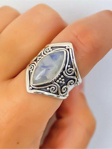 Vintage Moonstone Exaggerated Ring Jewelry