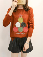Load image into Gallery viewer, 2017 Xmas Tree Casual sweatshirt women long sleeve T-shirt